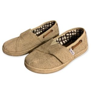 Toms Tan Slip On Shoes - Toddler's Size 11